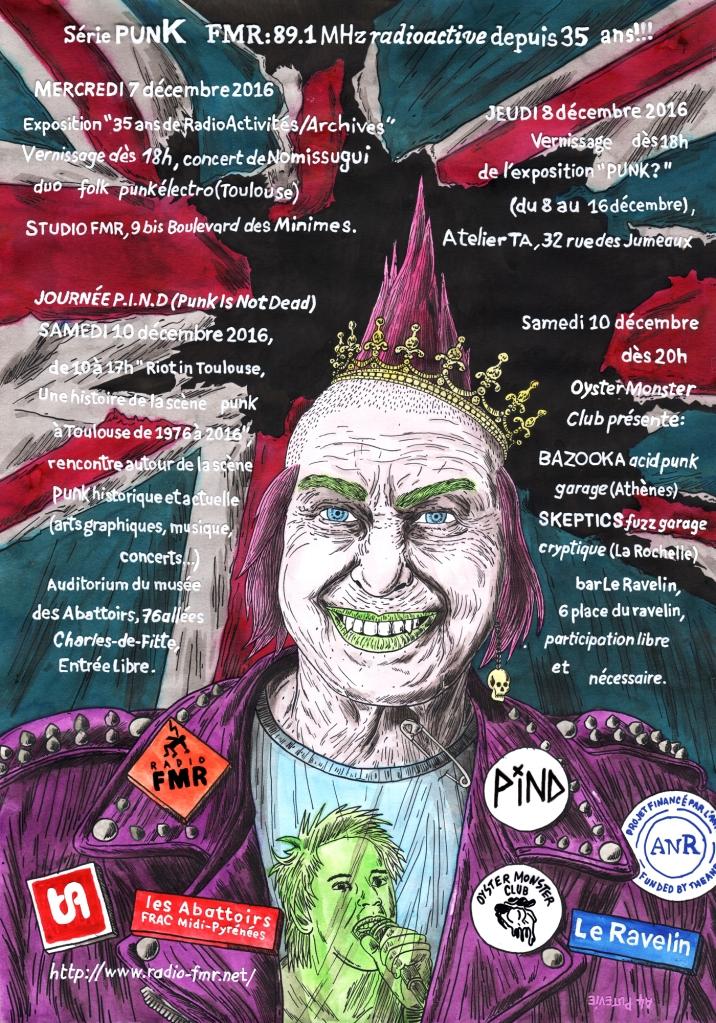 """Affiche """"Série Punk"""" - Radio FMR"""