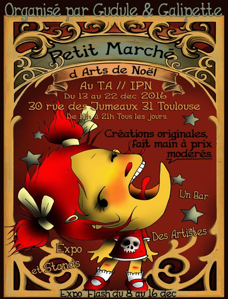 Marché d'Art de Noël 2016 - Gudule et Galipette
