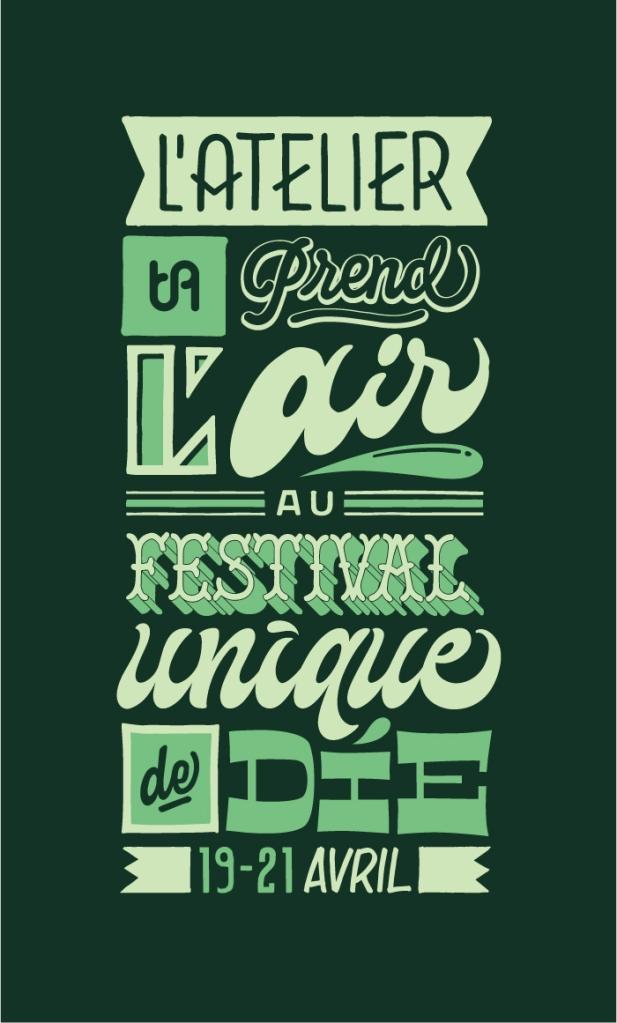 Atelier TA - Flyer de TA prend l'air au Festival Unique de Die 2019
