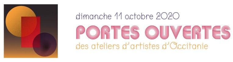 Visuel des Journes Portes Ouvertes des Aeliers d'Artistes en Occitanie édition 2020 avec la participation de l'Atelier TA